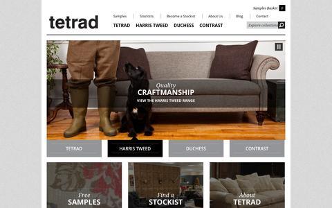 Screenshot of Home Page tetrad.co.uk - Home | TETRAD LTD - British Handcrafted Furniture - captured Oct. 6, 2014