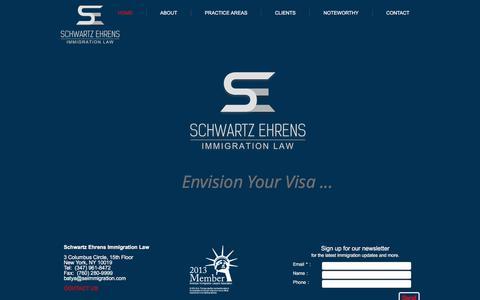 Screenshot of Home Page seimmigration.com - Immigration lawyer New York,Green Card, Marriage Visa, Employment Visa - captured Sept. 15, 2018