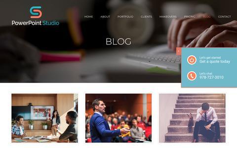 Screenshot of Blog thepowerpointstudio.com - BLOG – PowerPoint Studio - captured Sept. 21, 2019