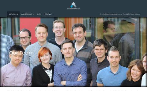 Screenshot of Team Page animmersion.co.uk - Animmersion - captured Sept. 25, 2018
