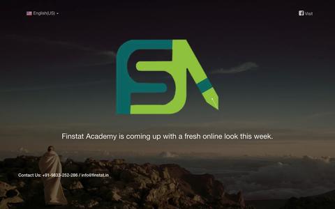 Screenshot of Home Page finstat.in - Finstat Academy - captured Feb. 10, 2016
