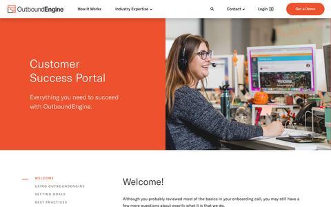 Screenshot of Support Page outboundengine.com - Customer Success Portal - OutboundEngine - captured Nov. 4, 2018