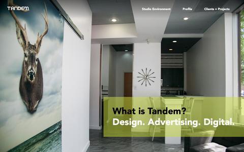 Screenshot of Home Page tandemmarketing.ca - Tandem Marketing Design | Home - captured Feb. 13, 2016