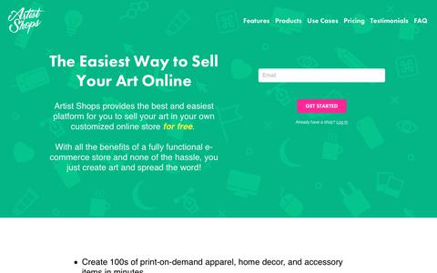 Screenshot of Signup Page threadless.com - How to Sell Your Art Online With Artist Shops - captured Oct. 21, 2018
