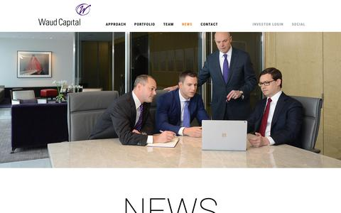 Screenshot of Press Page waudcapital.com - News – Waud Capital Partners - captured Oct. 20, 2018