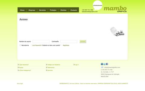 Screenshot of Login Page mambografics.com - Acceso - captured Dec. 21, 2015