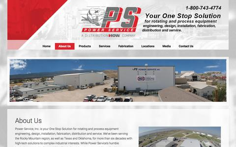 Screenshot of About Page powerserviceinc.com - About Us - captured July 21, 2018