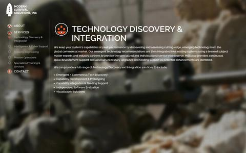 Screenshot of Services Page modernsurvivalsolutions.com - Modern Survival Solutions Inc.   A Veteran-Owned Small Business - captured Oct. 26, 2014