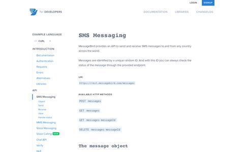 Documentation   SMS Messaging