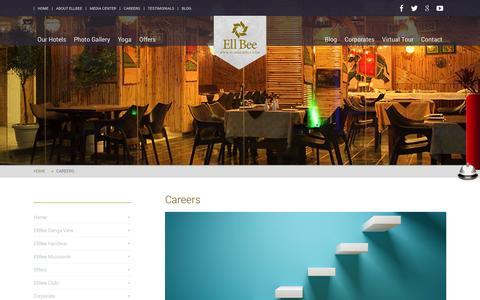 Screenshot of Jobs Page ellbeehotels.com - EllBee Hotels - Careers - captured Sept. 29, 2014