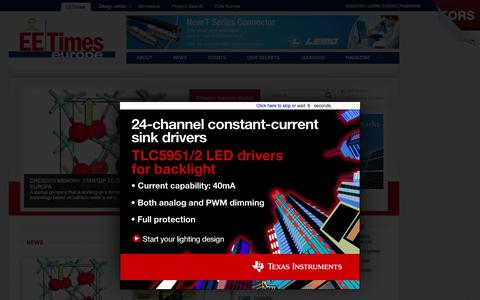 Screenshot of Home Page electronics-eetimes.com - Electronic Engineering Times  Europe : Industry News, Learning center, electronic design center  - Electronics Eetimes - captured Sept. 14, 2015