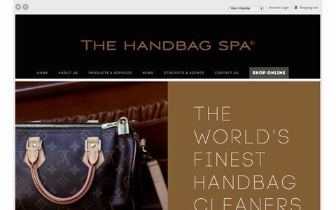 Screenshot of About Page thehandbagspa.com - Handbag Repair, Restoration and Cleaning | The Handbag Spa - captured Oct. 26, 2014