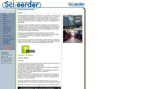 Screenshot of Home Page scheerderbv.nl - Scheerder BV - captured Oct. 12, 2015