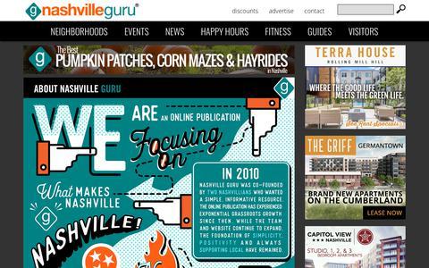 Screenshot of About Page nashvilleguru.com - About Nashville Guru | Nashville Guru - captured Oct. 3, 2018