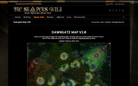 Screenshot of Maps & Directions Page theshapersguild.com - The Shapers Guild |   Dawngate Map v2.0 - captured Sept. 30, 2014