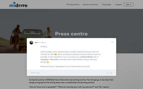 Screenshot of Press Page midrive.com - Rich says… - captured Feb. 18, 2018