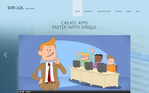 Screenshot of Developers Page sirqul.com - Sirqul, Inc. - captured Oct. 26, 2014