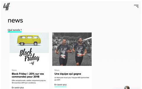 Screenshot of Blog kiffandco.be - Qué novele ? - KIFF. - Agence web - captured Oct. 14, 2018