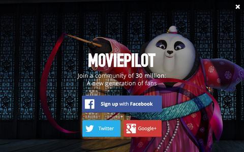 Screenshot of Login Page moviepilot.com - A New Generation of Fans | moviepilot.com - captured Jan. 25, 2016