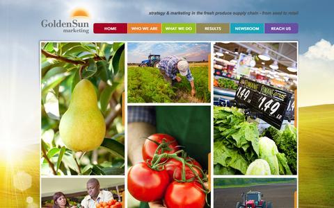 Screenshot of Home Page goldensunmarketing.com - Golden Sun Marketing | Fresh Produce Marketing Company - captured Sept. 30, 2014