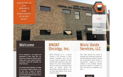 Screenshot of Home Page bnoat.com - Nitric Oxide Lab - captured Oct. 4, 2018