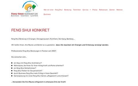 Screenshot of Home Page feng-shui-konkret.de - Startseite   Feng Shui Konkret - captured Oct. 30, 2018
