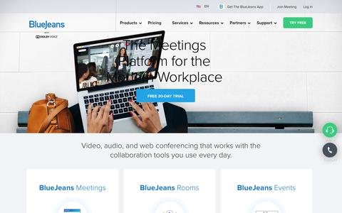 Video Conferencing, Screen Sharing, Video Calls | BlueJeans Network