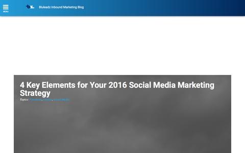 Screenshot of Blog bluleadz.com - Bluleadz Inbound Marketing Blog - captured Dec. 16, 2015