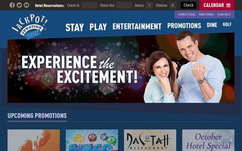 Screenshot of Home Page jackpotjunction.com - Casino Hotel in Morton, MN | Jackpot Junction - captured Oct. 13, 2018