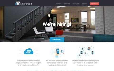 Screenshot of Jobs Page comprehend.com - Careers at Comprehend - captured Jan. 30, 2016