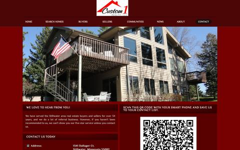 Screenshot of Contact Page custom1realty.com - Contact Information for Custom 1 Realty LLC - captured Dec. 16, 2018