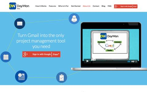Screenshot of Home Page daywon.com - DayWon - Gmail CRM - captured Feb. 8, 2016
