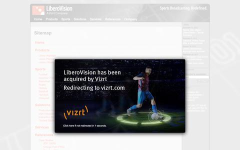 Screenshot of Site Map Page liberovision.com - LiberoVision - Sports Broadcasting. Redefined. - captured Dec. 14, 2018