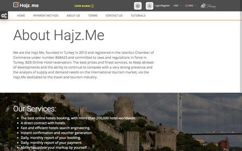 Screenshot of About Page hajz.me - Hajz.me - captured Sept. 18, 2016