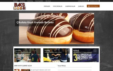 Screenshot of Home Page baks.com.tr - Baks Bakery & Snacks - captured Feb. 2, 2016