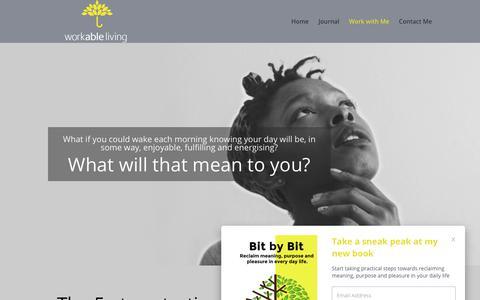 Screenshot of Pricing Page workableliving.com.au - Work with Me | Workable Living - captured Nov. 12, 2017