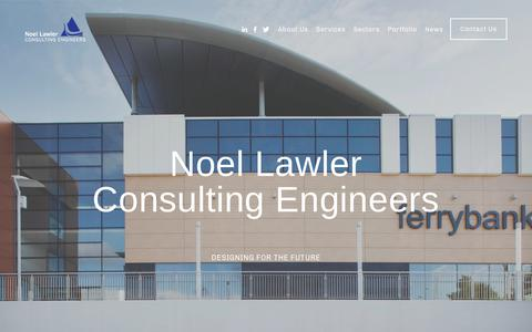 Screenshot of Home Page nlce.ie - Noel Lawler Consulting Engineers - captured Oct. 20, 2018