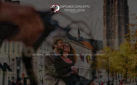 Screenshot of Home Page capturedconcepts.com - Captured Concepts :: photography + designs - captured July 14, 2017