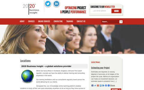 Screenshot of Locations Page 2020projectmanagement.com - Locations : 2020 Project Management - captured Oct. 27, 2014