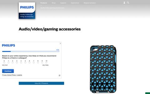 Screenshot of philips.com - Audio/video/gaming accessories. Discover the full range | Philips - captured Sept. 17, 2016