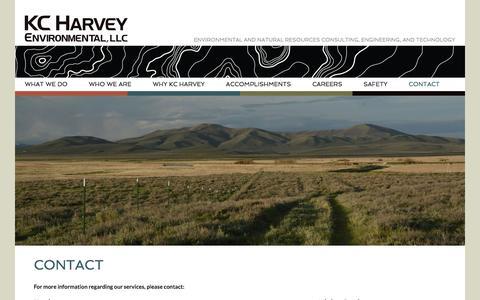 Screenshot of Contact Page kcharvey.com - Contact   KC Harvey Environmental - captured Feb. 12, 2016