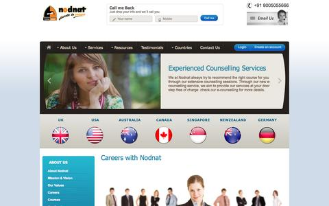 Screenshot of Jobs Page nodnat.com - Careers with Nodnat Education Services - captured Nov. 5, 2014