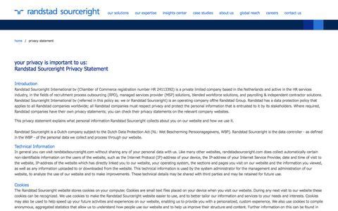 privacy statement | Randstad Sourceright