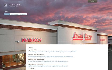 Screenshot of Press Page sterlingorganization.com - News | Sterling Organization - captured Oct. 7, 2014