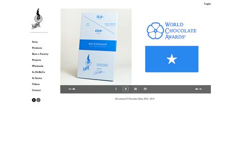 Screenshot of Home Page chocolatenaive.com - Chocolate NAIVE - captured Sept. 29, 2014