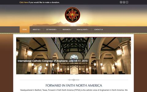 Screenshot of Home Page fifna.org - Home   FIFNA   Forward in Faith North America - captured Oct. 9, 2015
