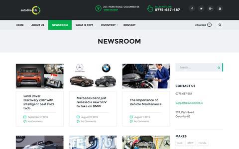 Screenshot of Press Page autodirect.lk - Newsroom - autodirect.lk - captured Sept. 14, 2016