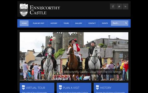 Screenshot of Login Page enniscorthycastle.ie - Enniscorthy Castle - captured Sept. 30, 2014
