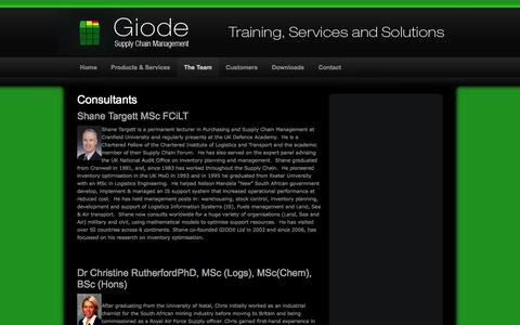 Screenshot of Team Page giode.com - Giode Team | Supply Chain Management, Inventory Management, Stock Control, Inventory Planning, Control and Optimisation - Giode - captured Oct. 2, 2014