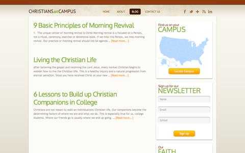 Screenshot of Blog christiansoncampus.org - Blog - Christians on Campus - captured Sept. 29, 2014